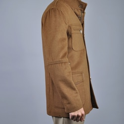 Men's Chestnut Wool/ Cashmere Coat