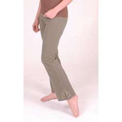 Yogacara Women's Military-Color Boot-Cut Pants