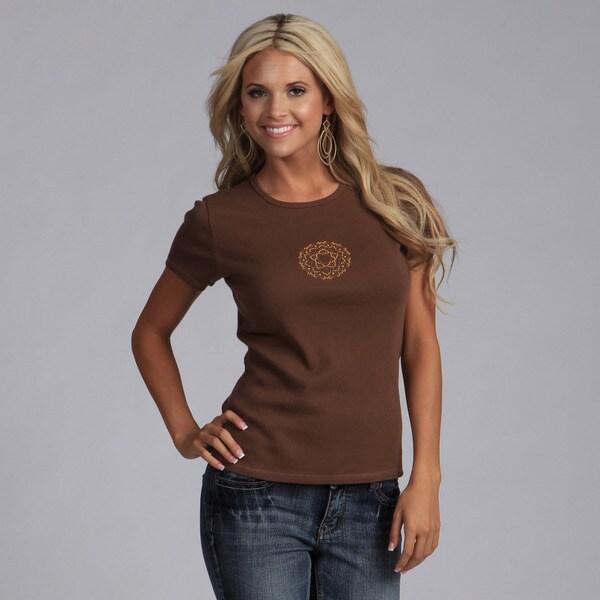 Yogacara Women's Flower Stud T-shirt