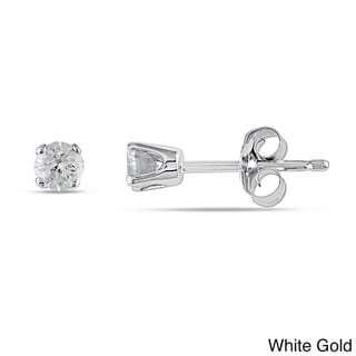 Miadora 14k Gold 1/4ct TDW Round Diamond Stud Earrings (I-J, I2-I3)