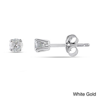 14k Gold 1/4ct TDW Round Diamond Stud Earrings