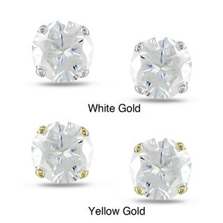Miadora 14k Gold 3/4ct TDW Round Value Diamond Stud Earrings (J-K, I2-I3)