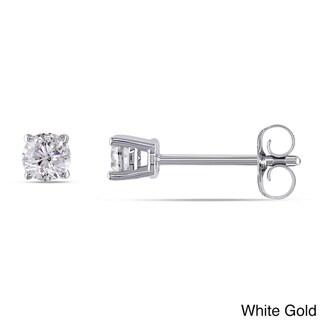Miadora 14k Gold 1/4ct TDW Diamond Stud Earrings (H-I, I1-I2)