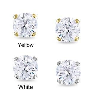 Miadora 14k Gold 1/2ct TDW Round Certified Diamond Stud Earrings (G-H, I1-I2)