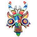 Ceramic 'Rainbow Demon' Mask (Peru)