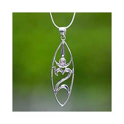 Sterling Silver 'Peace for the World' Necklace (Indonesia)