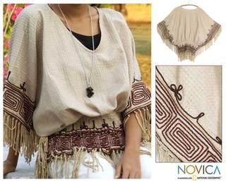 Cotton 'Hypnotic Geometry' Blouse (Thailand)