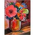 Sheila Golden 'Coral Flower' Canvas Art