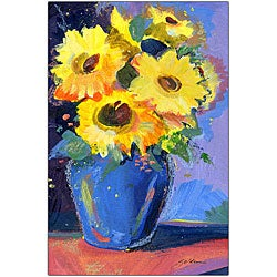 Sheila Golden 'Sunflowers II' Canvas Art