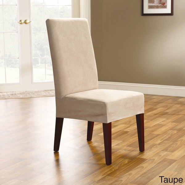 New Polyester Suede Smooth Chair Cover Dining Room