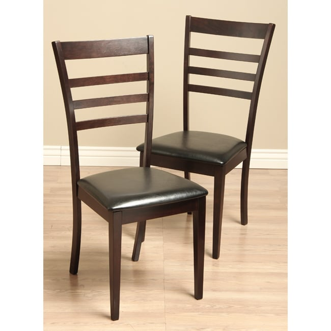 leather dining room chairs set of 2 furniture arm back mid seat modern