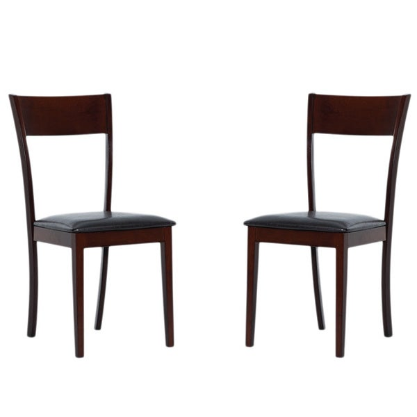 IDA Bi-cast Leather Dining Room Chairs (Set of 2)