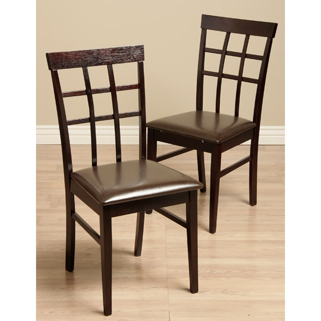 Justin Bi-cast Leather Dining Room Chairs (Set of 2)