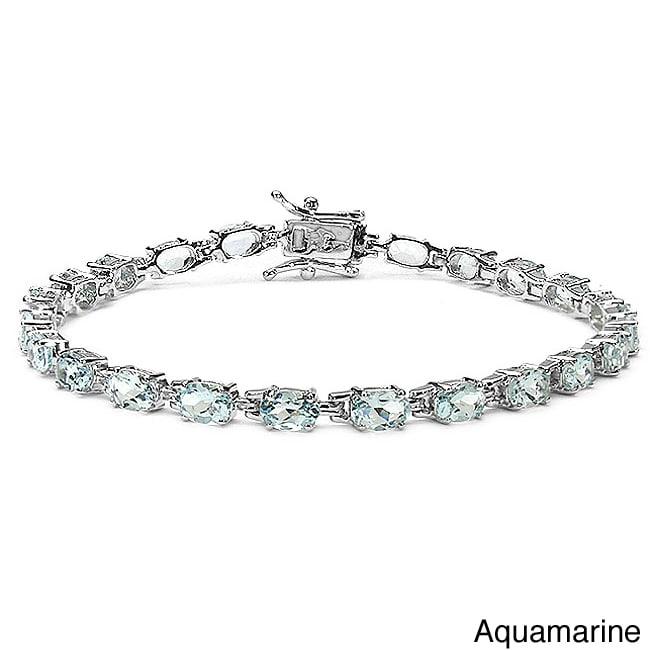 Malaika Sterling Silver Gemstone Bracelet at Sears.com