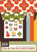 Reprodepot Folk and Flora Mix & Match Stationery: 16 Stationery Sheets & Envelopes (Cards)