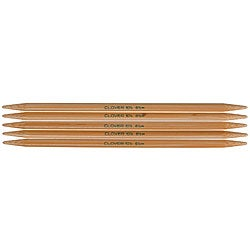 Clover Bamboo Size 8 Double-pointed Knitting Needles