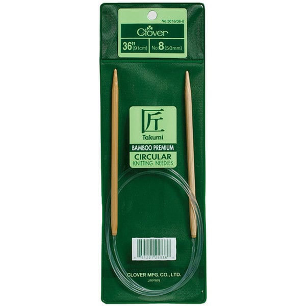 Bamboo Circular 36-inch Size 7 Knitting Needles