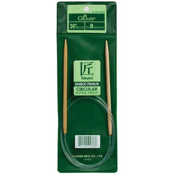 Bamboo Circular 36-inch Size 11 Knitting Needles
