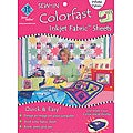 Colorfast Sew-in 8.5x11 White Inkjet Fabric Sheets (Pack of 3)