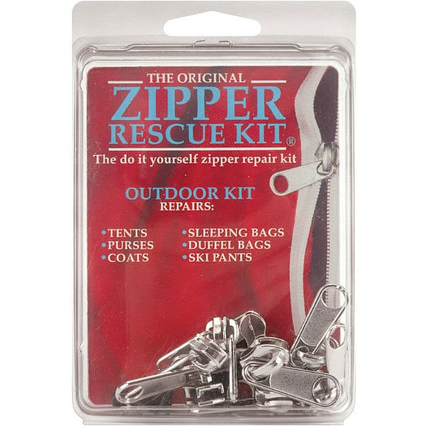 Zipper Rescue Kit for Repairing Outdoor Apparel and Equipment