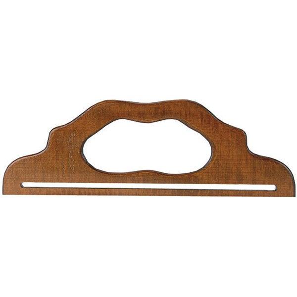 12-inch Vintage-style Walnut Soft Varnish Finish Wooden Purse Handle