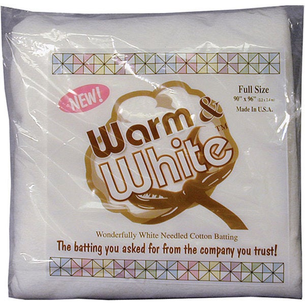 Warm and White Full-size Cotton Batting
