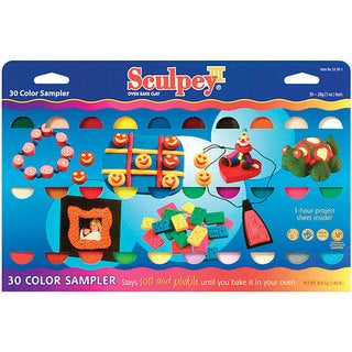 Sculpey III Soft Polymer-clay Multicolor Sampler (30/Package)