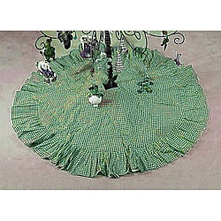 Green and White Checks Tree Skirt