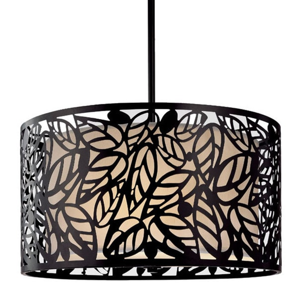 Metal Leaf Hanging Light