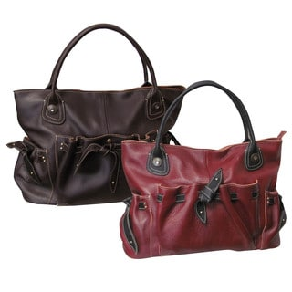 Amerileather Thalia Women's Tricolor Fully Lined Cowhide Handbag