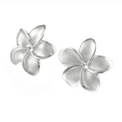 Tressa Sterling Silver Plumeria Earrings