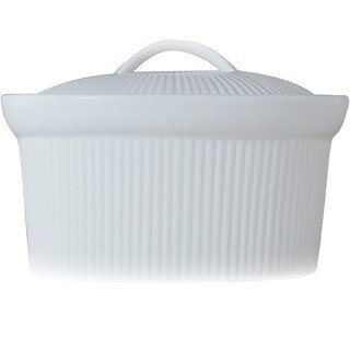 Bianco Oval 8-inch Covered Casserole Dish