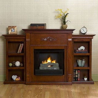 Dublin Gel Fuel Fireplace wtih Bookcases