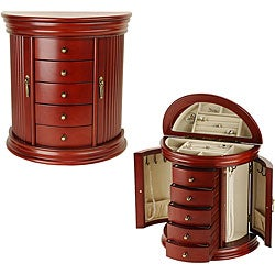Round Queen Anne Cherry Jewelry Box