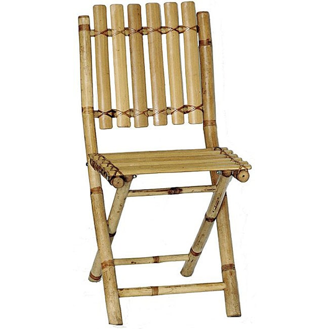 Bamboo bistro chairs - Set Of 2 Bamboo Folding Chairs Vietnam 11559244 Overstock Com