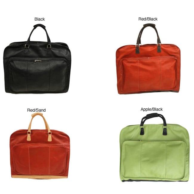 Piel Top Grain Leather Garment Bag