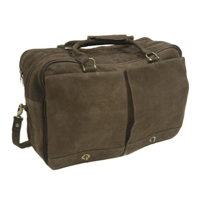 Piel Top Grain Leather Carry-on Duffel Tote Bag
