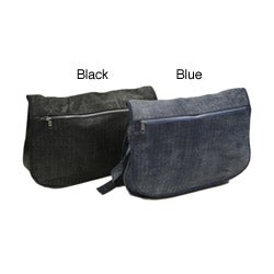 Piel Leather Denim-look Messenger Bag
