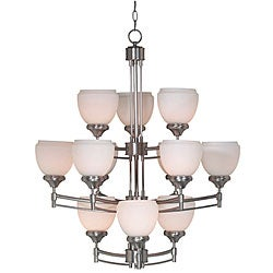 Pierce Brushed Steel 12-light Chandelier