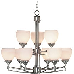 Pierce Steel 9-light Chandelier