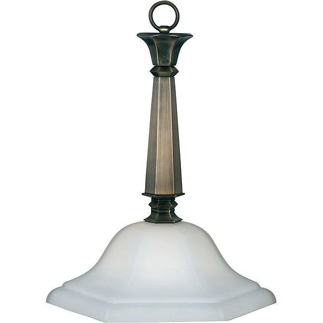 Georgetown Golden Bronze 1-light Pendant