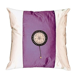 Lavender/ White Decorative Cushion Cover