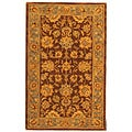 Handmade Heritage Kerman Brown/ Blue Wool Rug (3' x 5')
