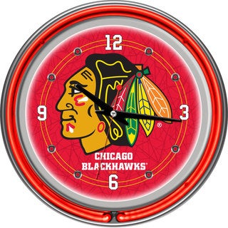 NHL Hockey Team 14-inch Double Ring Neon Clock