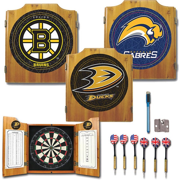 NHL-licensed Hockey Team Dart Cabinet Set