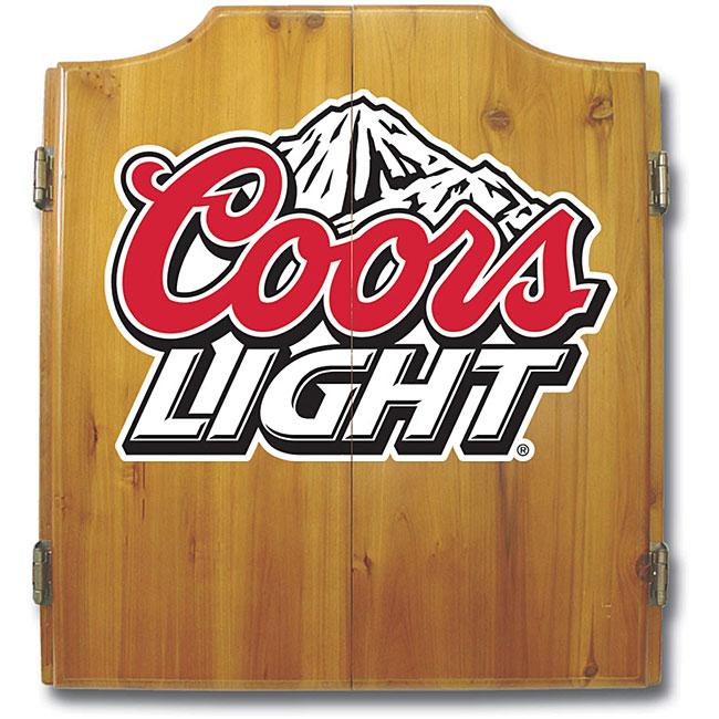 Officially Licensed Coors Light Logo Dart Cabinet Set