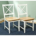 Virginia Cross Back Chairs (Set of 2)