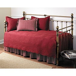 Trellis Scarlet 5-piece Day Bed Set