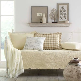 Stone Cottage Trellis Ivory 5-piece Daybed Set
