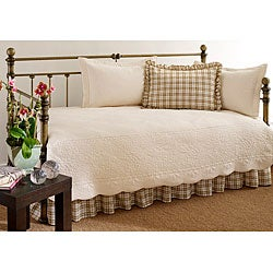Trellis Ivory 5-piece Daybed Set